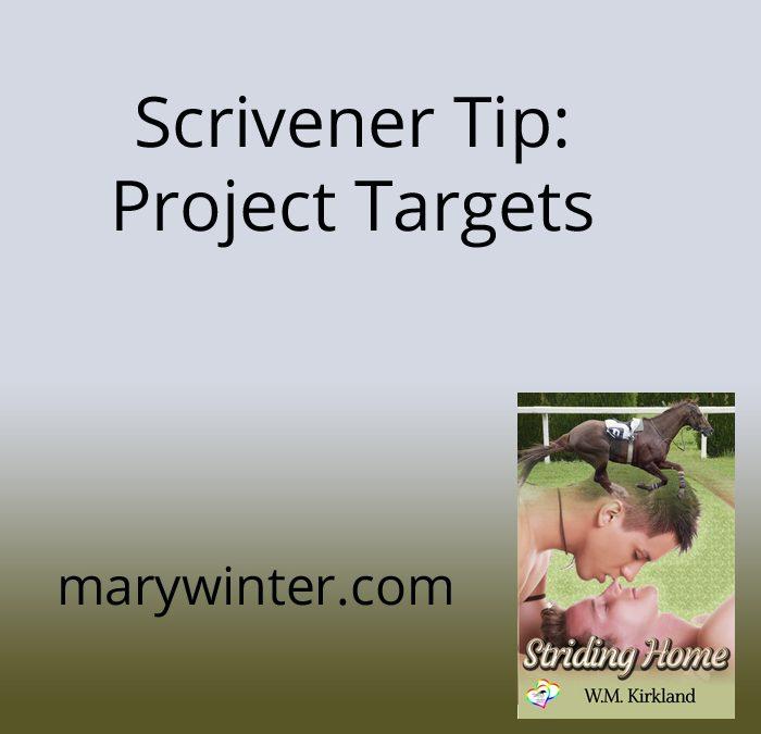 Scrivener Tip: Project Targets